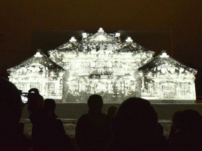 弘前公園大雪雕像投影地圖今年還視頻景點